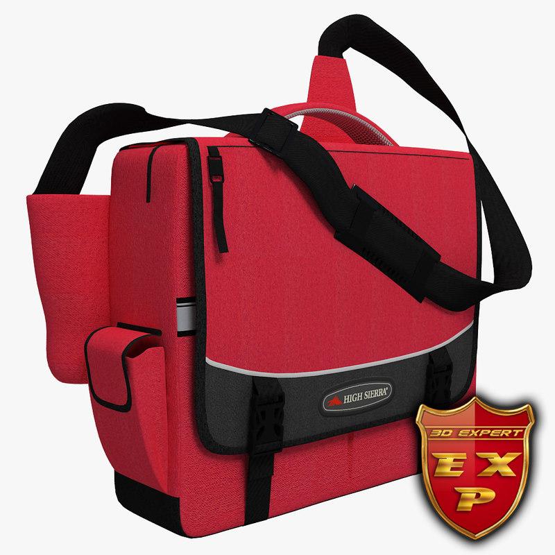 bag school 3d max