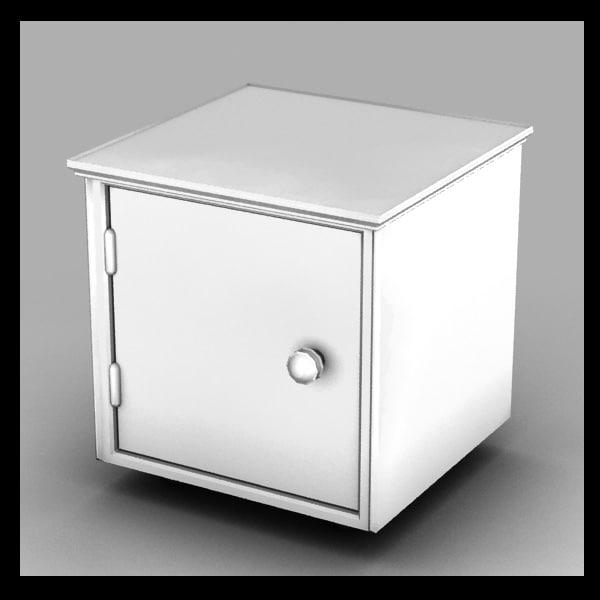 locker metal 3d model