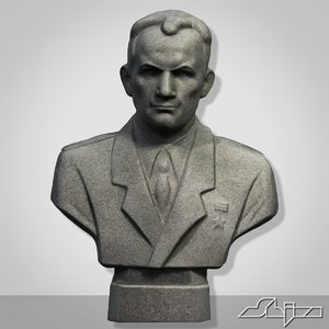 3ds max man bust