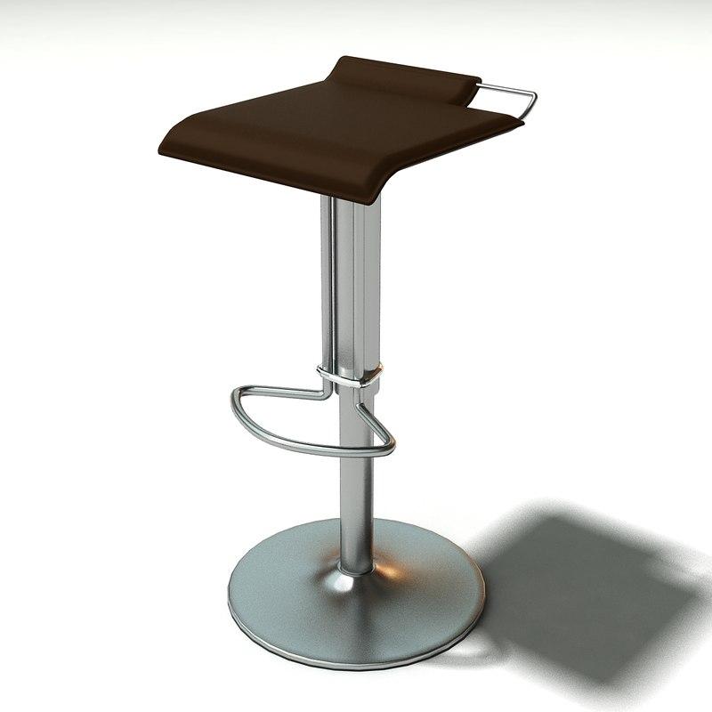 bonaldo hoppy bar chair 3d model