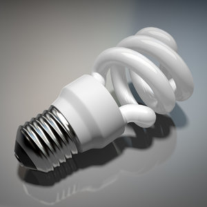 3d model realistic energy efficient light bulb