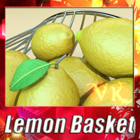 Fruit basket 01 + Lemon + High Resolution Textures
