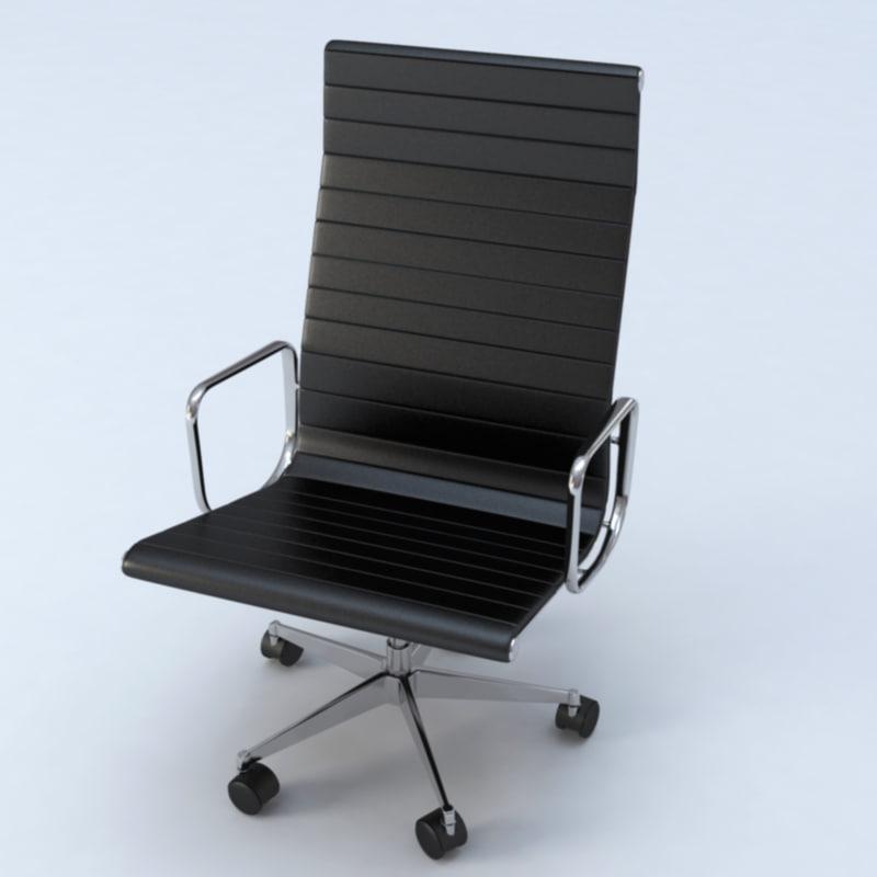 luxurious office chair 3d model