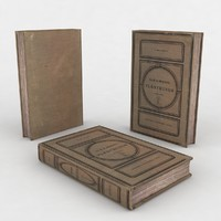 3ds max old book brown
