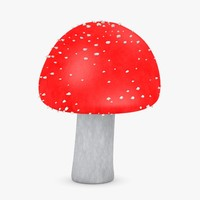 3d model poisonous amanita muscaria