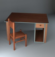 cartoon chair table 3d max