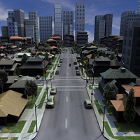cinema4d city houses