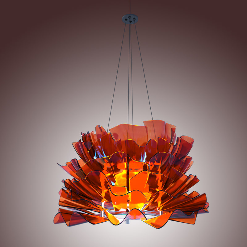 3d ceiling light fixture model