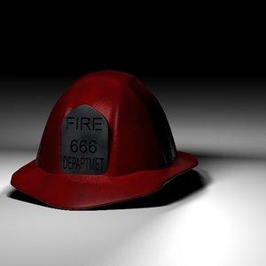 3d model of fireman hat