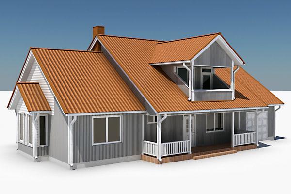 story single family house 3d model