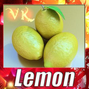 3d model lemon resolution