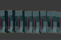 free super computer mainframe 3d model