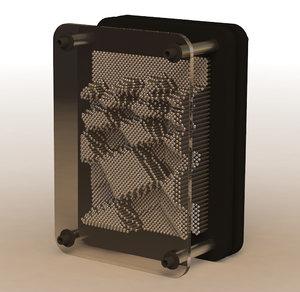 3d rigged pin box - model