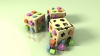 plastic shape sorter box 3d model