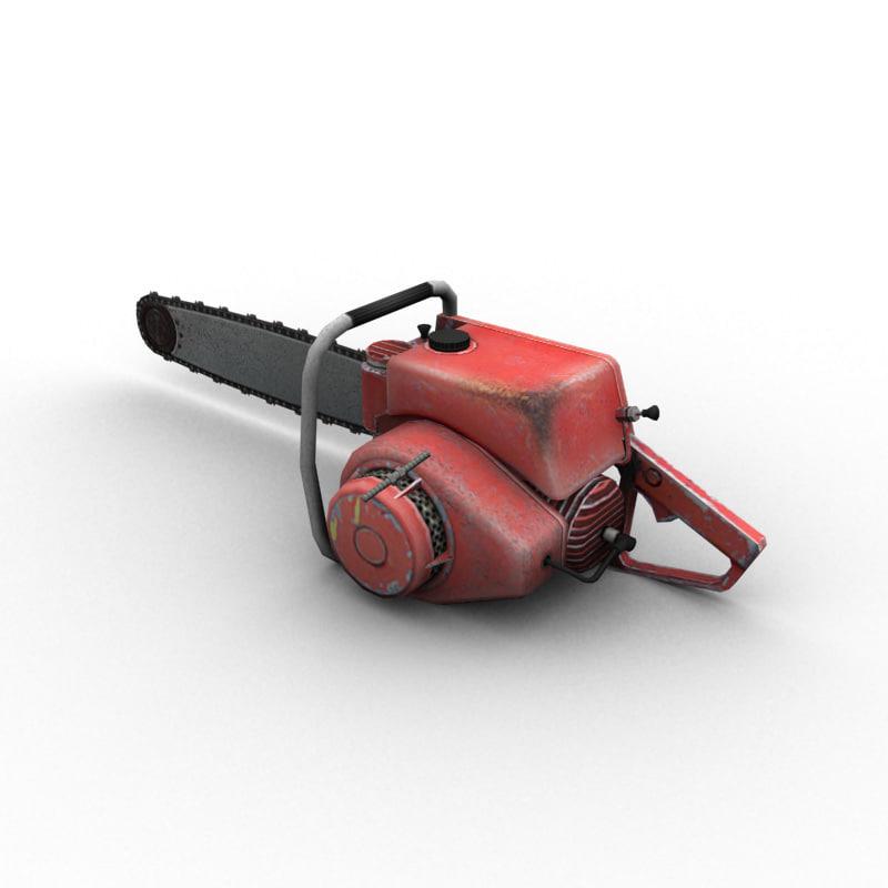old chainsaw obj