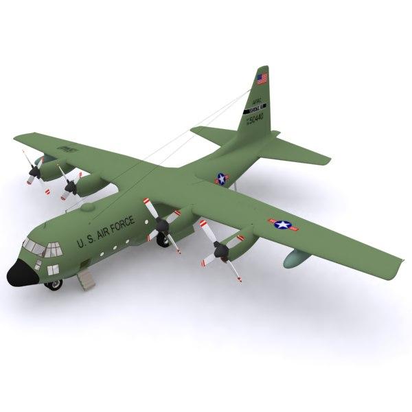 3ds max aircraft hercules c-130