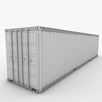 shipping container 3d 3ds