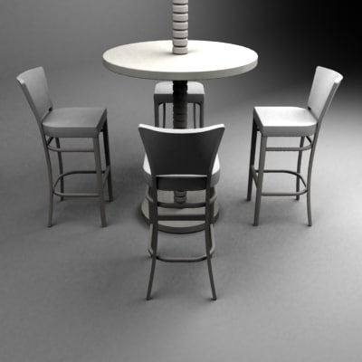 bar set table chairs max