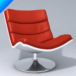artifort f978 lounge 3d model