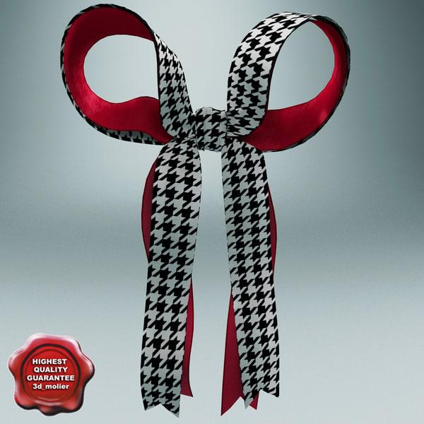 cheerleading hair bow 3d 3ds
