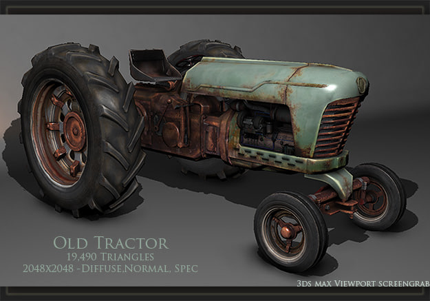 max realtime old rusty tractor