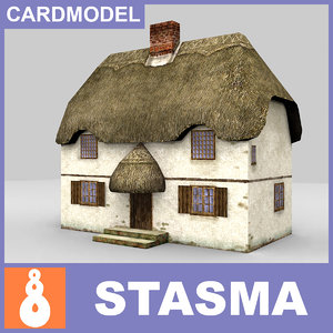 paper english thatched house 3ds free