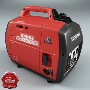 generator honda eu2000i 3d model