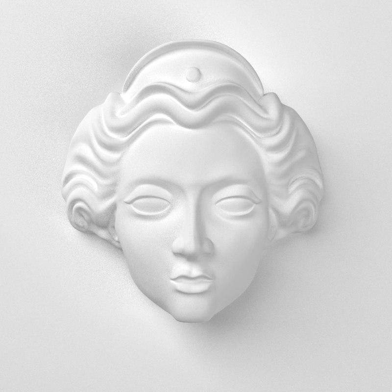 3d model decorate classical facades