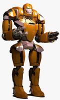macho robot 3d max