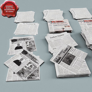 3d model newspapers modelled