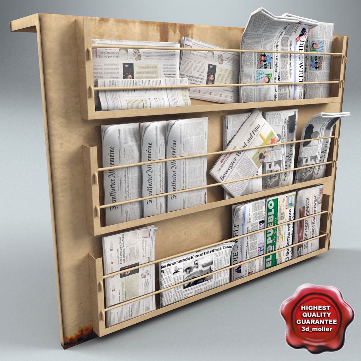 3dsmax newspapers stand v2