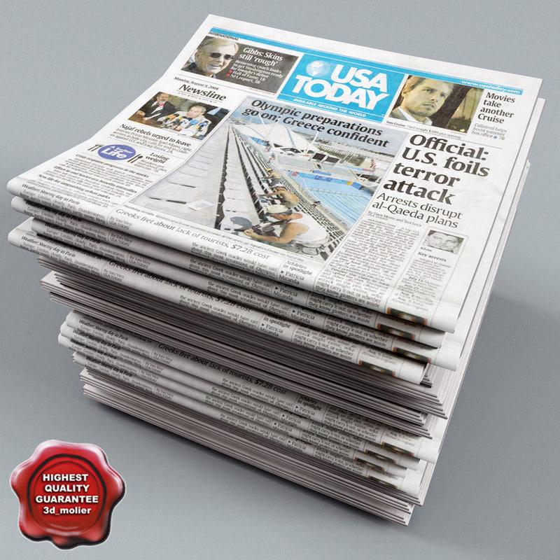 newspapers v3 3d model