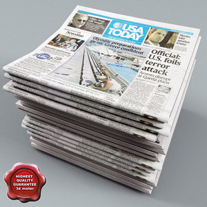 newspapers v3 3d model
