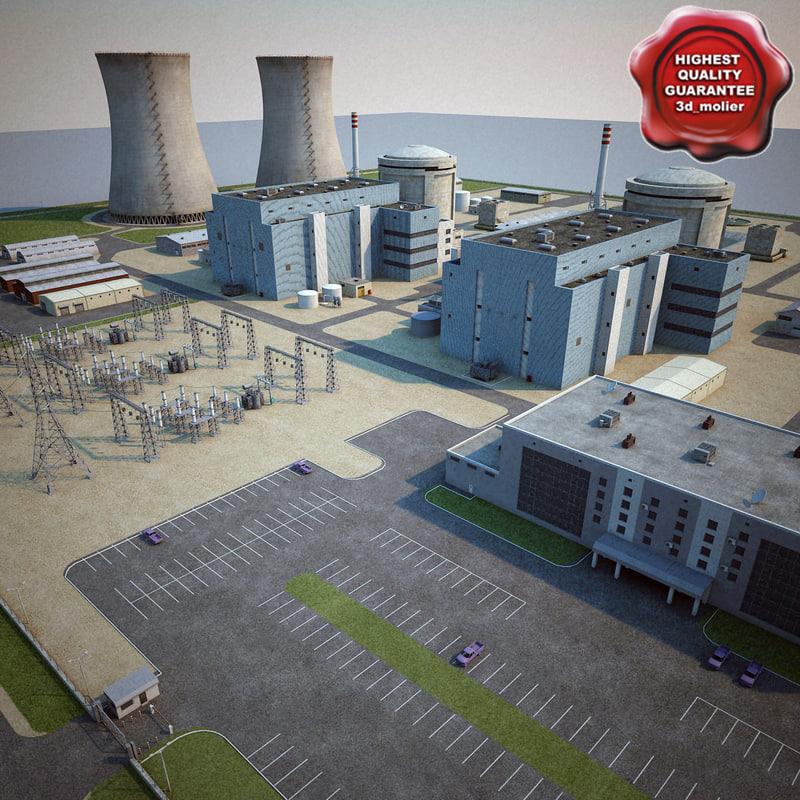 3d model nuclear power plant