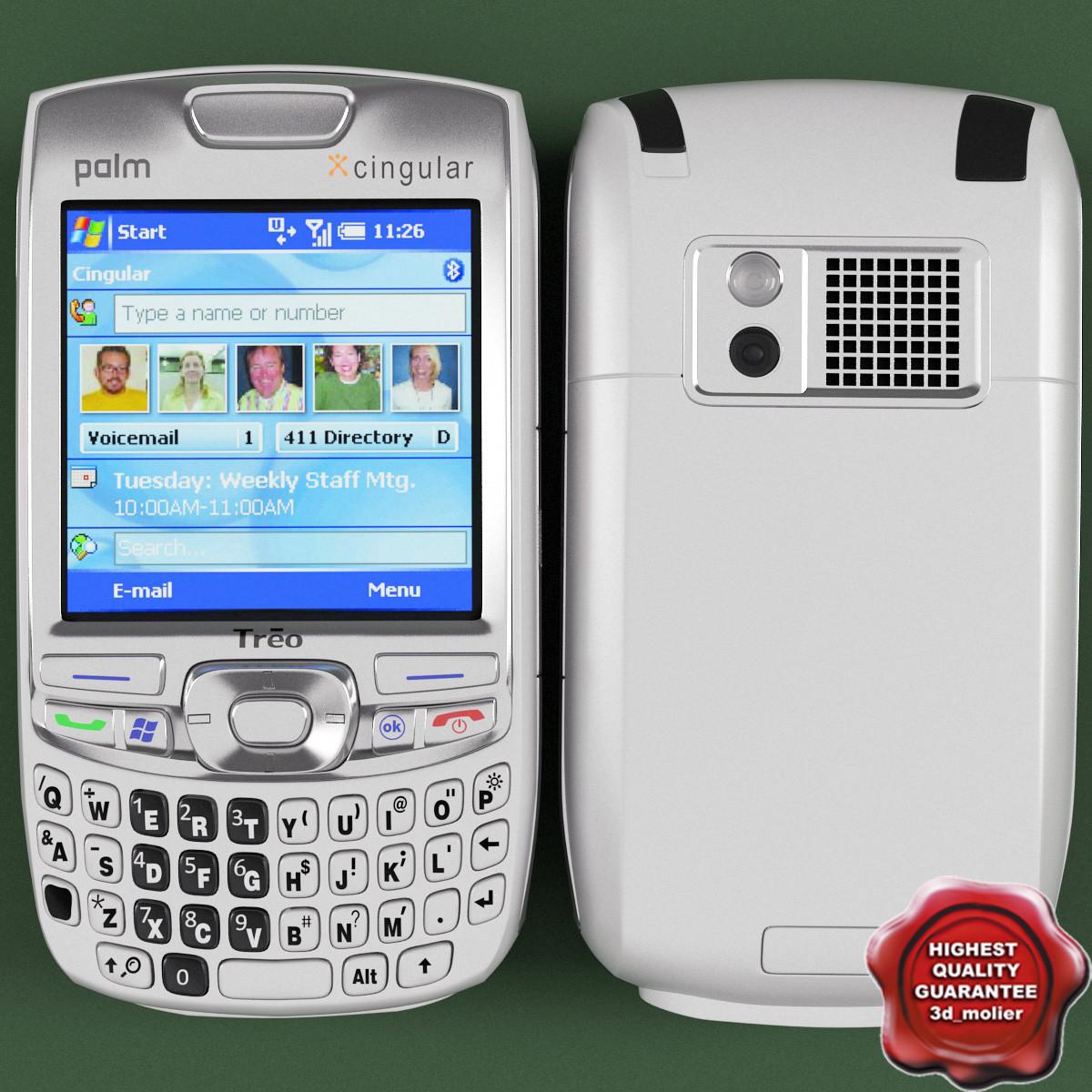 palm treo 750 white 3d model