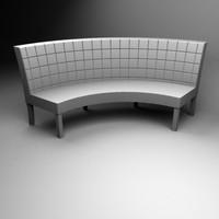 3d model rectangels sofa