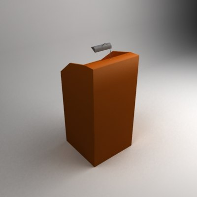 3d model speach stand lamp