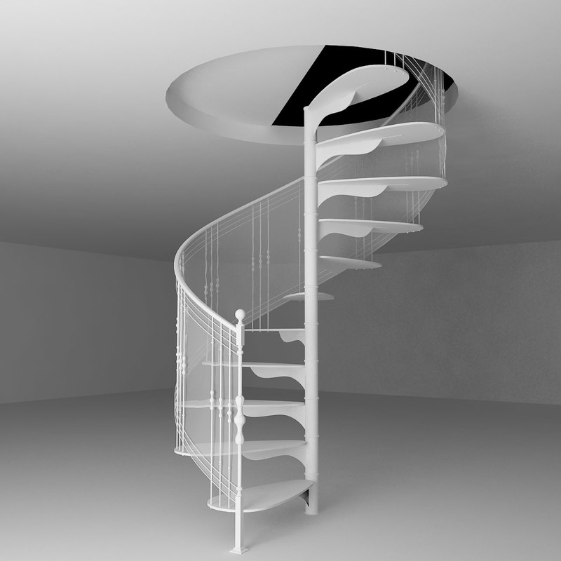 3d Model Spiral Stairs