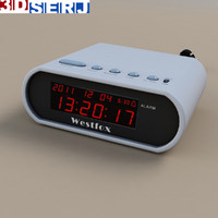 3d model digital clock
