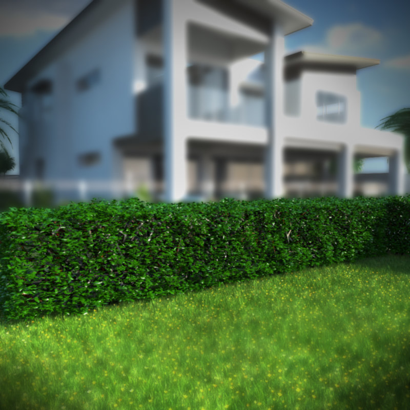 3ds max hedge plant gardens