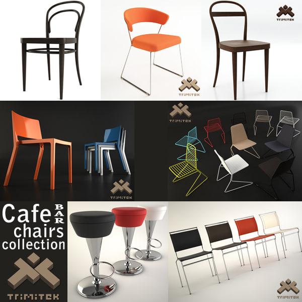 chairs cafe bar air 3d model