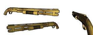 mossberg m590 tactical c4d