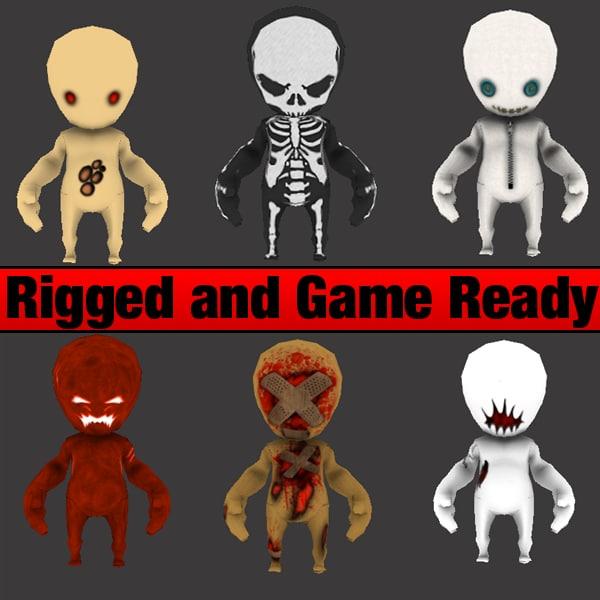 3d character horror games