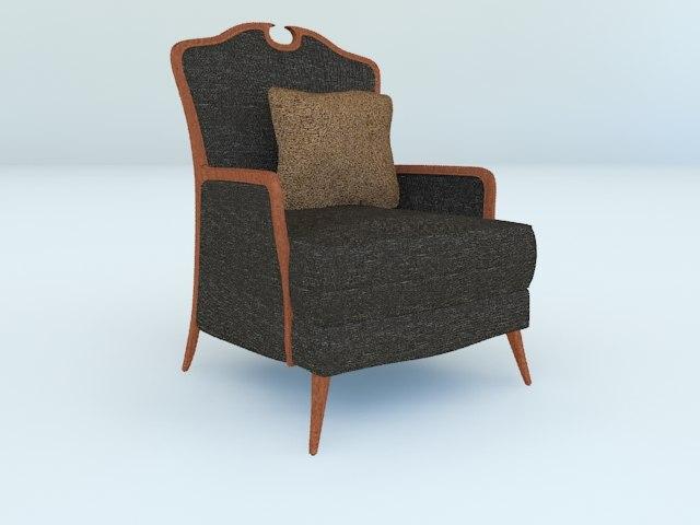 3dsmax victorian lounge chair