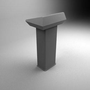 3d model speach stand