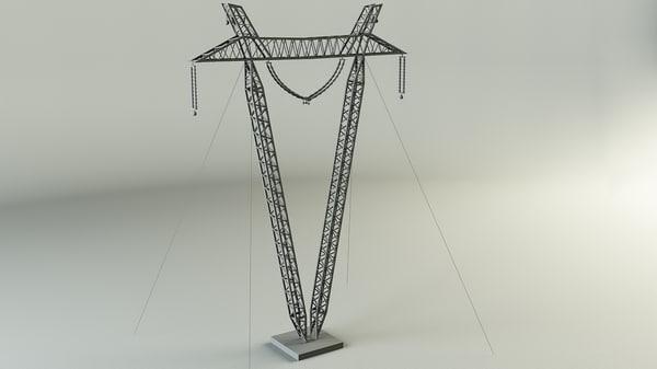 3d transmission line tower