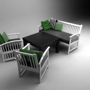 maya wooden outdoor set