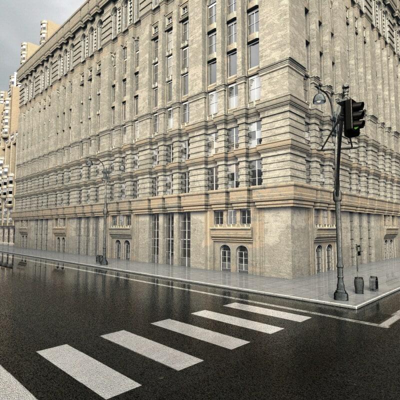 street buildings 3d max
