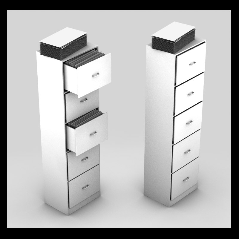 office cabinet metal 3d model
