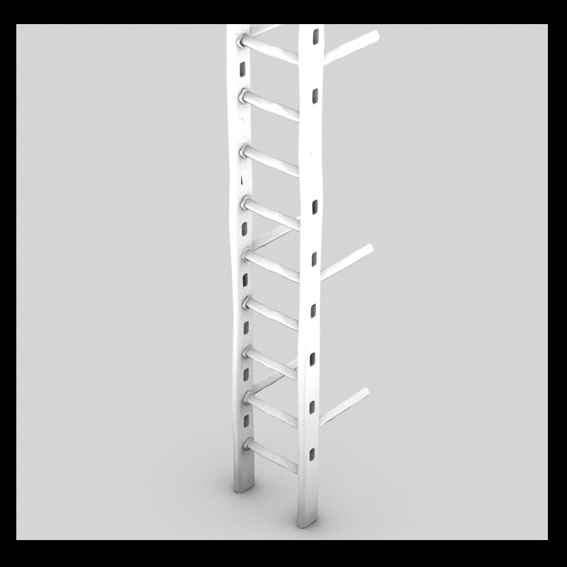 3d metal ladder old